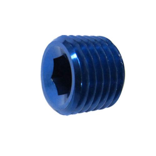 "Renegade Pipe Plug 61204-1; NPT Plug Blue Anodized N//A Straight 1//8/"" NPT"