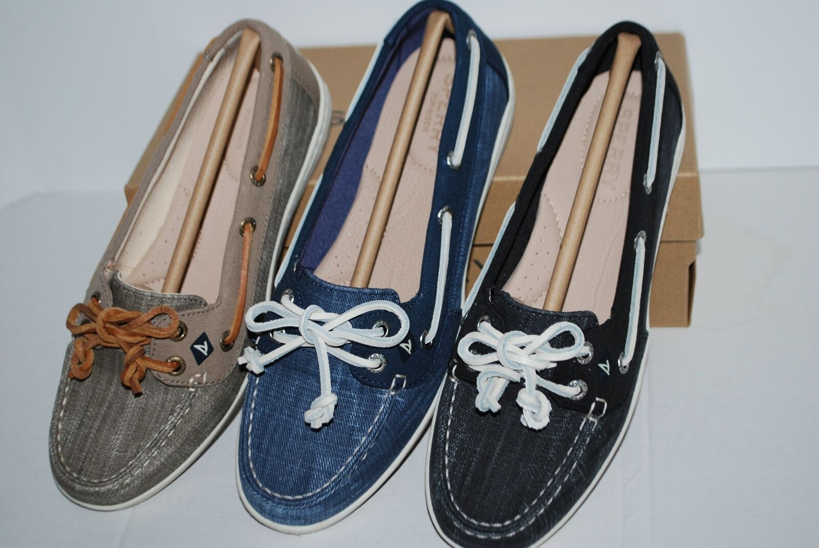 NIB SPERRY FIREFISH RIPSTOP BLACK NAVY TAUPE 6.5 7 8 BOAT 9 10 WMN LOAFERS BOAT 8 SHOES 50b2eb