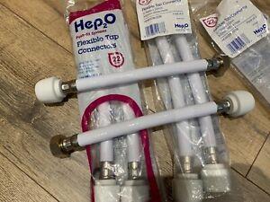 """2 x Hep2O 300mm x 22mm x 3/4"""" flexible bath tap connectors push fit"""