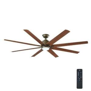 Home Decorators Collection Kensgrove 72 in. LED Indoor/Outdoor Ceiling Fan Espresso Bronze