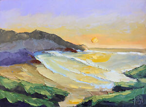 GREEN-ROCKS-SOUTH-Original-Expression-Seascape-Oil-Painting-12x16-073117-KEN