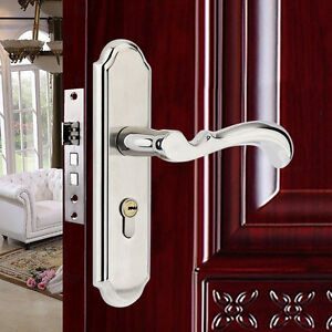 Stainless steel full set privacy door security entry lever - Interior door privacy mortise lock ...