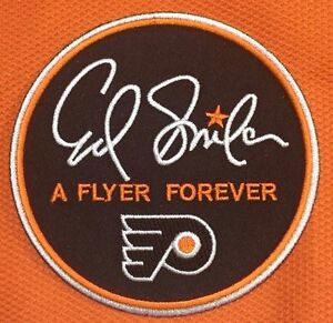 best service 4f697 d6e74 Details about ED SNIDER 'A FLYER FOREVER' 16-17 Philadelphia Flyers Iron On  Jersey Patch 50th