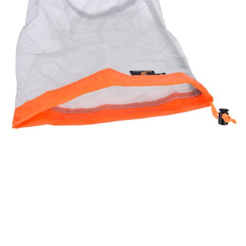 Ultralight Clothes Shoes Mesh Stuff Sack Storage Drawstring Bag Tavel Camping BJ