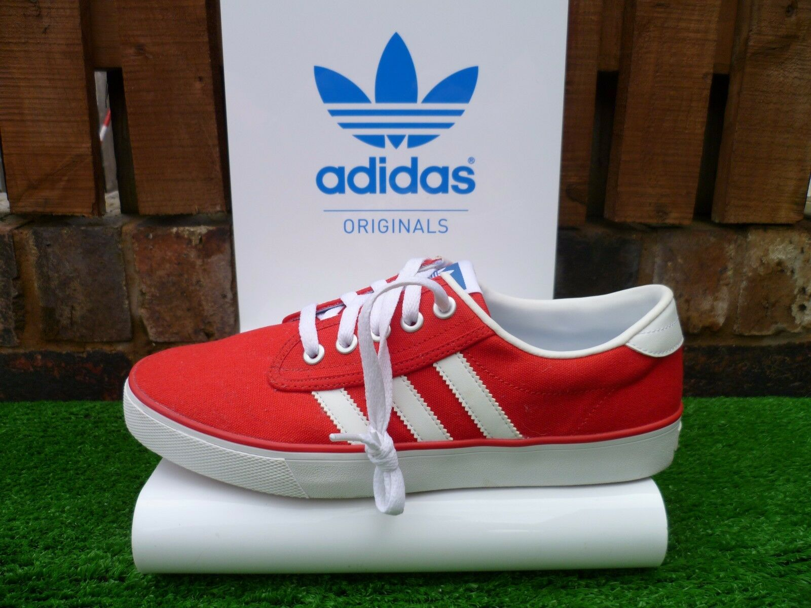 Adidas KEIL 80s casuals 2014 RED CANVAS VERSION VERY RARE LOOK!