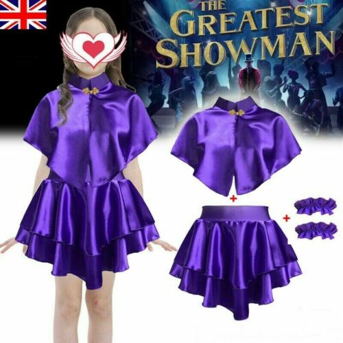 Kids Girls ANNE WHEELER Costume The Greatest Showman Cosplay ZENDAYA Dance HOT