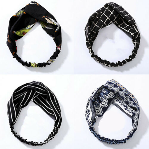 Details about  /Fashion Women Turban Twist Knot Head Wrap Headband Twisted Knotted Hair Band ~
