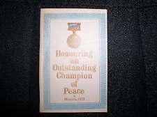 1973 ORIGINAL BOOK HONORING USSR BREZHNEV W/ INTERNATIONAL LENIN PRIZE FOR PEACE