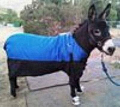 """Helder Miniature Donkey Waterproof Lined Blanket W/gussetsblue..size Is Adj. 48-54"""" Esthetisch Uiterlijk"""