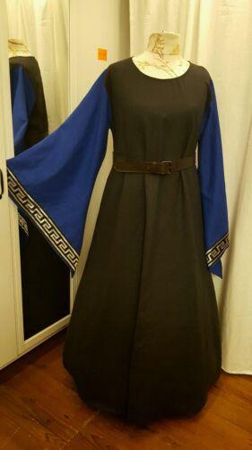 Mittelalterliches  Kleid Larp Gr.46 48 50 Leinen  Mittelalter Gothic blau B4