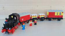 LEGO Eisenbahn 12 Volt 4,5V Batterie Zug, Güterzug (7722), mit BA + 12V Motor