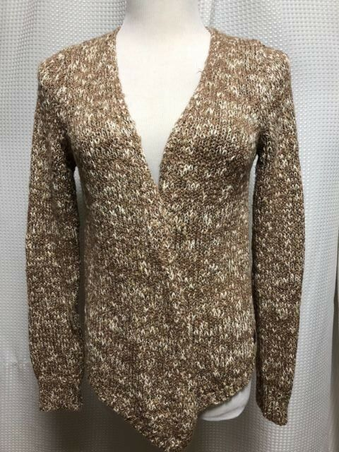 Woman's Medium Brown Harley Davidson Knit Overlay Cardigan