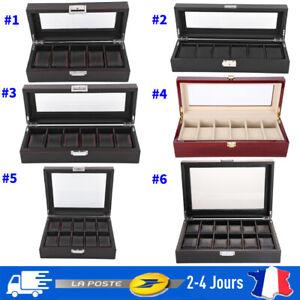 PU-Presentoir-a-Montre-Bijoux-Etui-de-5-6-10-12-Montres-Boite-de-Rangement