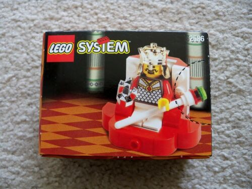 Chess King LEGO System Castle New /& Sealed 2586 King /& Throne Super Rare
