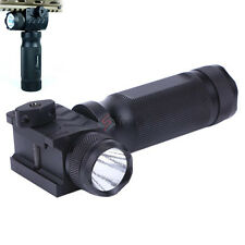Tactical Vertical Foregrip LED Flashlight & 20mm Picatinny Rail Mount Outside