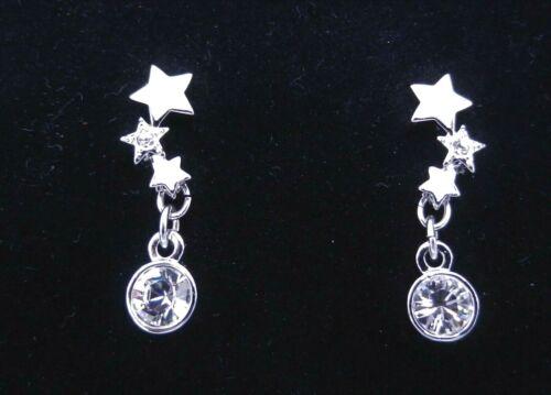 Signed Swarovski Earrings Gamma White Star Crysta… - image 1