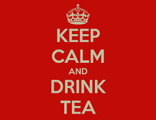 KEEP CALM AND DRINK TEA - PREMIUM QUALITY MOUSE MAT / PAD
