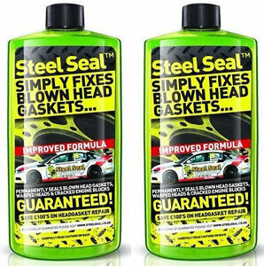 STEEL-SEAL-500ml-SIMPLY-FIXES-BLOWN-HEAD-GASKETS-x2-bottles