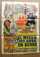 LA INDIA MARIA El Miedo No Anda en Burro FUNNY HORROR MEXICAN MOVIE POSTER 1973