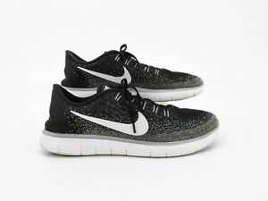 9984f71efe4e Nike Free RN Distance Men Black Athletic Running Shoes Size 12M Pre ...