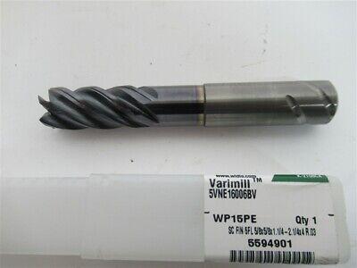 "WIDIA HANITA Carbide Corner Radius End Mill 5//8/"" 5FL AlTiN 0.120/"" Radius 6146584"