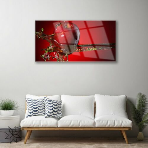 Print on Glass Wall art 100x50 Picture Image Apple Water Kitchen
