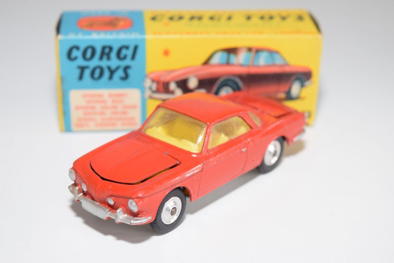 \\ CORGI TOYS 239 VW VOLKSWAGEN KARMANN GHIA 1500 rojo VERY NEAR MINT BOXED