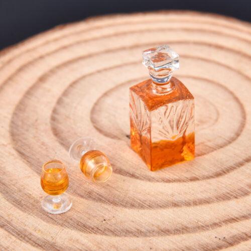 1:12 Scale Dollhouse Miniature Accessories Whiskey Wine Bottle Bar Model Kits