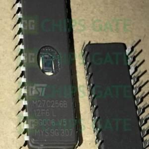 3PCS-M27C256B-12F6-DIP-28-EPROM-UV-256K-Bit-32K-x-8