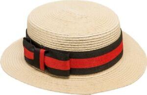 Caricamento dell immagine in corso Uomo-Donna-Cappello-di-Paglia-Marinaretta -Abbigliamento-da- 822ac992ef0d