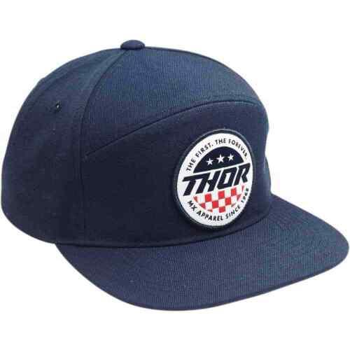 Thor MX Navy Patriot Flat Bill Mens Caps Motocross Off Road Dirt Snapback Hat