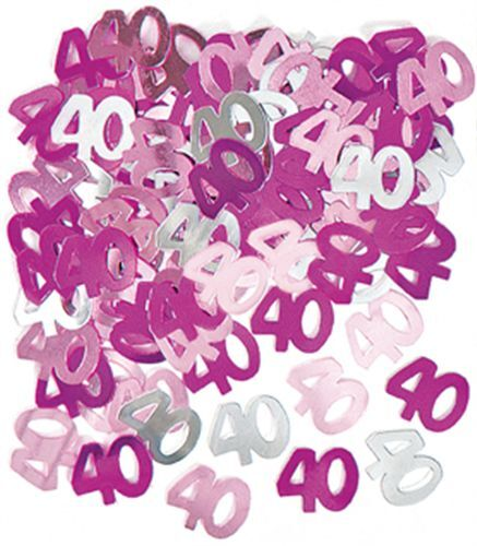 40th Pink Glitz Birthday Party Supplies Decorations Tableware Banners Balloons
