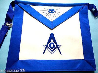 Master Mason  Blue Satin Blue Lodge Apron 001