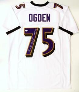 Jonathan Ogden Autografiado Blanco Pro Estilo Jersey Con Salón de ...