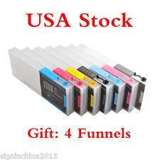US Stock-Epson Stylus Pro 7600 / 9600 Refilling Cartridge 7pcs / set+4 Funnels
