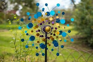 Jonart-Designs-Eclipse-Wind-Sculpture-Blue-Yellow-Purple-WINDSPINNER-Sp560