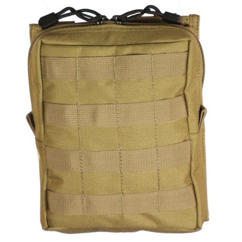 Bulle Tan MOLLE Webbing Tactical Large Utility Pouch Zip Open