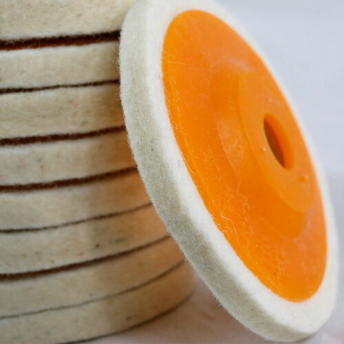 10X 100mm 4 Inch Round Wool Buffing Pad Polishing Wheel Felt Buffer Disc Set