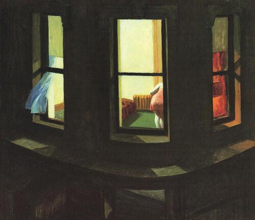 Edward Hopper Night Window Vintage Wall Art Poster Print Picture Giclee Artwork