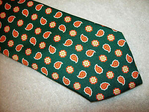Peter-Millar-100-Silk-Mountain-Green-Paisley-Tie-NWT-115-Made-in-Italy