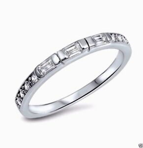 USA Seller Eternity CZ Ring Sterling Silver 925 Best Price