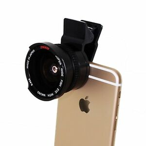 sports shoes 70eaa 406cf Details about Clip-On .42X Fisheye Lens fo iPhone 6s 6 plus 6 5 iPad  Samsung Galaxy smart phon