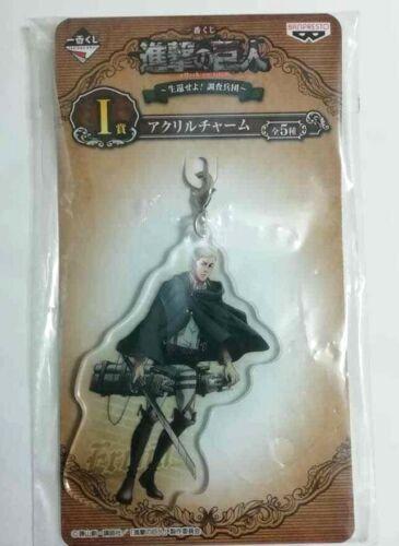 Attack on Titan Acrylic Keychain Strap Charm Erwin Smith Kuji Hajime Isayama F//S