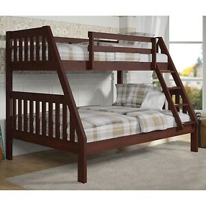 Donco Kids 1018 3tfcp Twin Over Full Mission Bunkbed In Dark