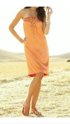 APART Satin Bandeaukleid Kleid NEU melone