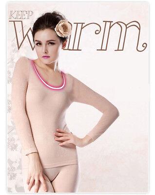 Women Thermal Underwear Ultra Thin light Good Elasticity Shaped Underwear Set