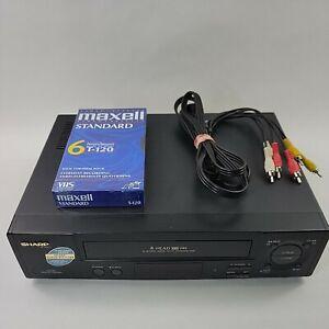Sharp VC-A572U 4 Head Hi-Fi VCR Video Cassette Recorder VHS Player TESTED