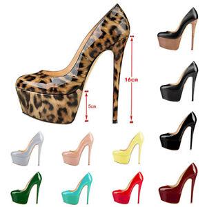 onlymaker-Womens-Sexy-Round-Toe-Super-High-Heel-Platform-Stilettos-Slip-On-Pumps