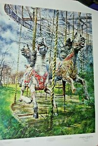 ROBERT-ADDISON-Weathered-Memory-Lithograph-Chicago-Hand-Signed-LISTED-ARTIST