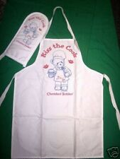 Cherished Teddies KISS THE COOK Event APRON w/OVEN MITT * FREE USA SHIPPING